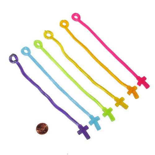 Sticky Crosses on a String Toy