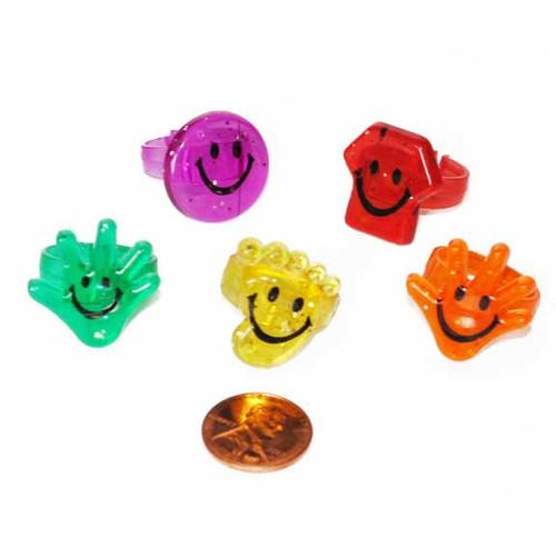 Plastic Glitter Rings