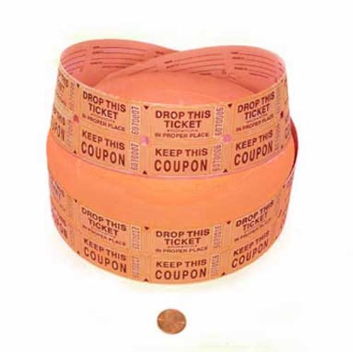 Orange Double Roll Tickets (2000 double tickets/roll)
