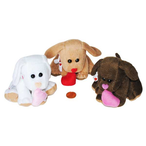 Mini Stuffed Animal Puppies with Hearts