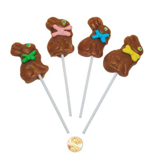 Chocolate Easter Bunny Suckers