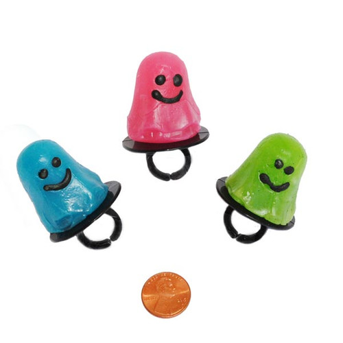 Colorful Ghost Shaped Ring Suckers