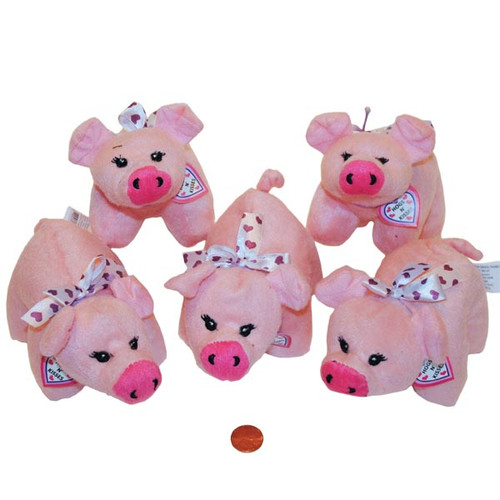 Mini Stuffed Animal Pigs