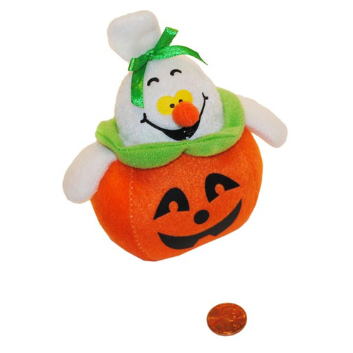 Mini Stuffed Ghost and Pumpkin Toy