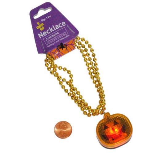 Pumpkin Flashing Safety Halloween Necklaces