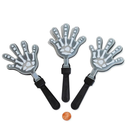 Glow in the Dark Skelton Hand Clappers Toy