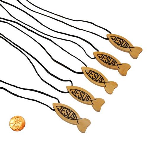 Wooden Jesus Cross Necklaces