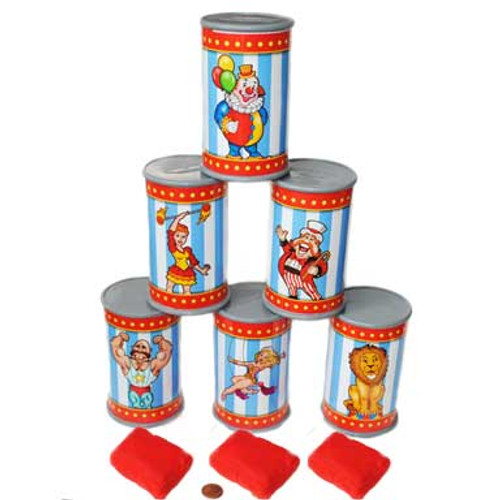 Plastic Can Knock Down Set $10.99 (6 cans & 3 bean bags)