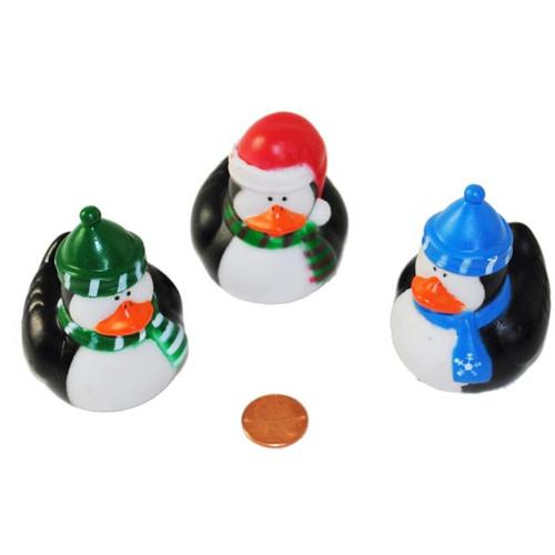 Penguin Holiday Rubber Ducks