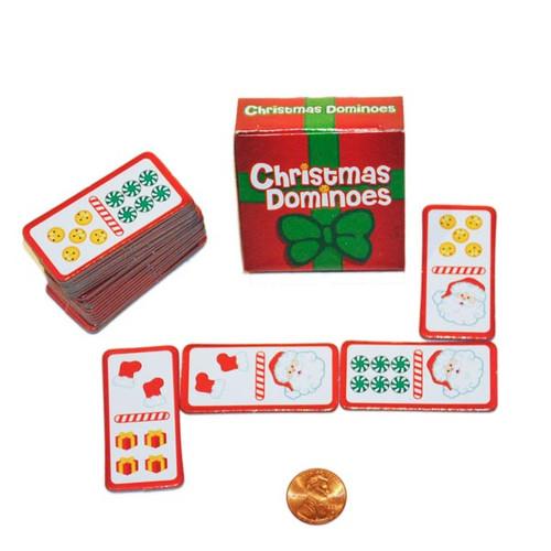 Christmas Game - Cardboard Christmas Dominos