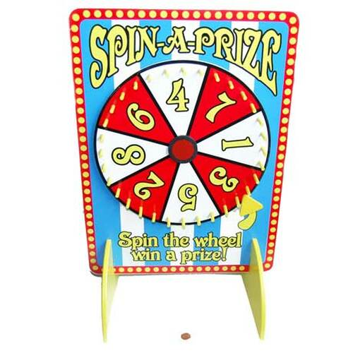 Carnival Tabletop Spinner for Carnival Games