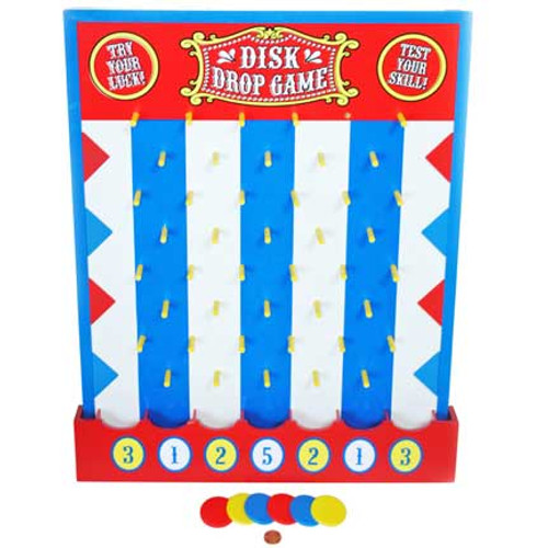 Carnival Wooden Disk Drop Game
