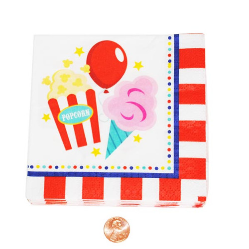 Carnival Party Themed Dessert Napkins