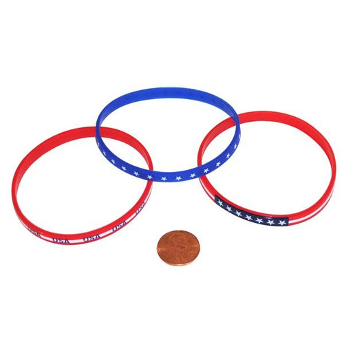 Rubber Thin Patriotic Silicone Bands
