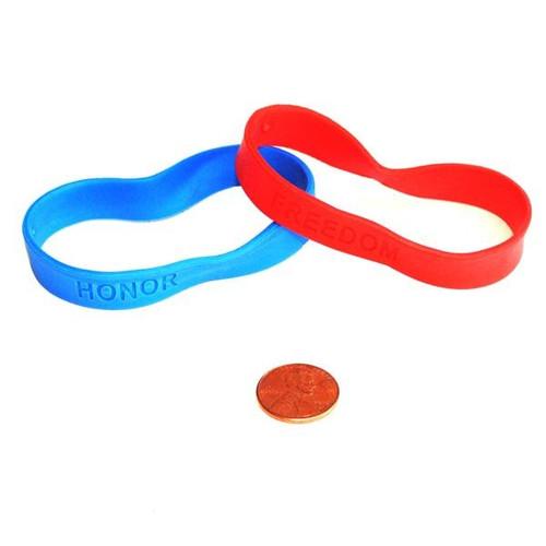 Rubber Patriotic Sayings Bracelets