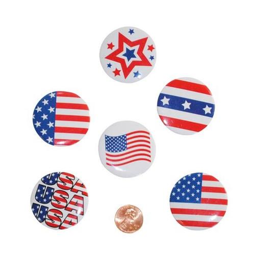 Metal Patriotic Buttons