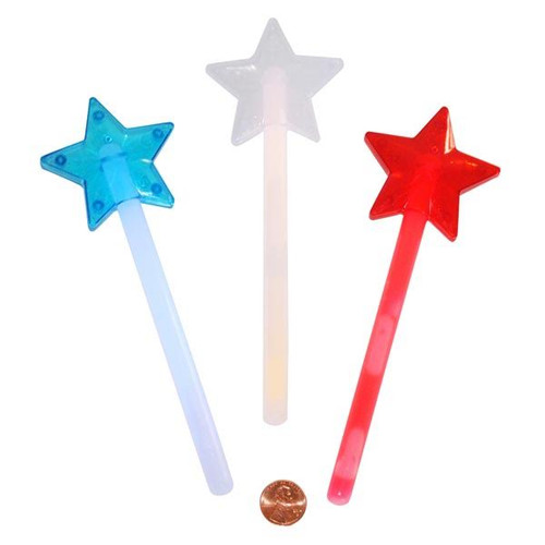 Plastic Mini Star Premium Glow Wands
