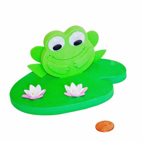 Foam 3D Floating Frog on a Lily Pad Craft Kit
