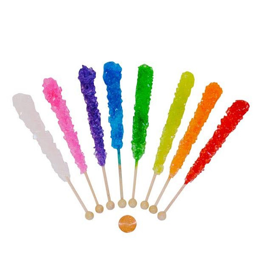 Crystal Sugar Rock Candy Pops