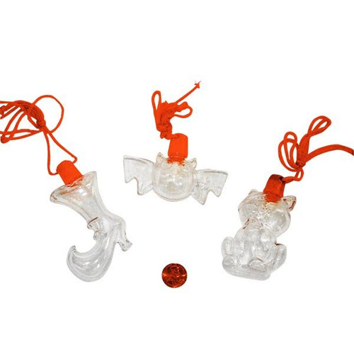 Halloween Sand Art Bottle Necklaces