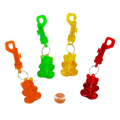 Plastic Gummy Bear Key Chain Clips