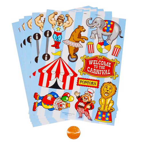 Carnival Sticker Sheets Wholesale