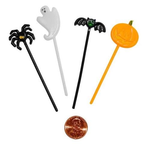 Plastic Halloween Cupcake Picks