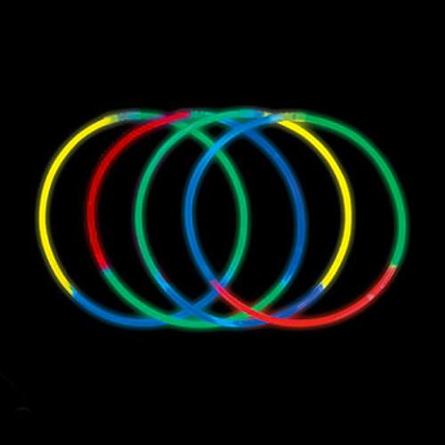 Tri-Colored Premium Glow in the Dark Necklaces