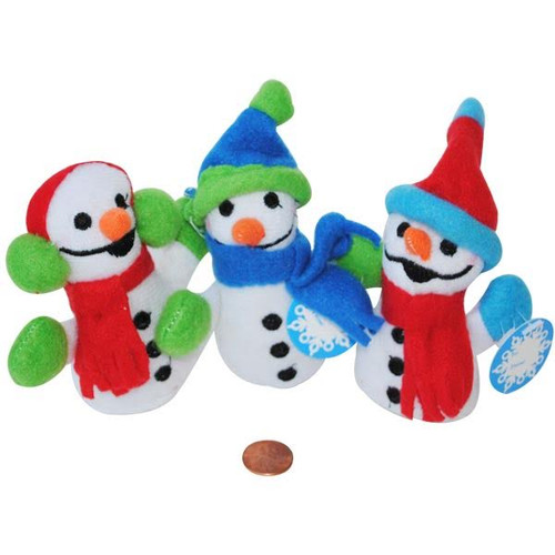 Mini Exchange Snowmen Small Stuffed Animals