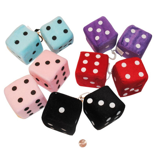 Fuzzy Hanging Dice