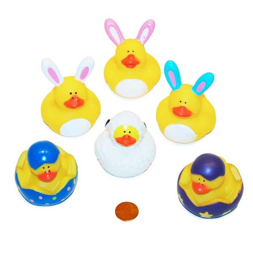 Vinyl Easter Rubber Duckies