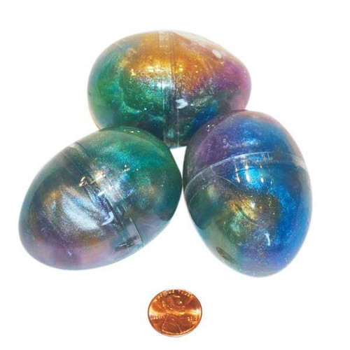 Iridescent Rainbow Glitter Putty Eggs