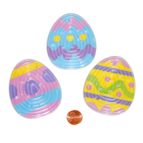 Plastic Dyed Easter Egg Maze Puzzles