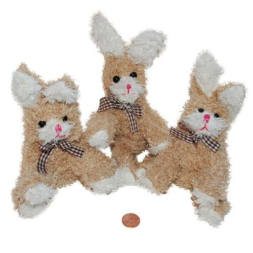 Plush Scruffy Brown Bunnies - Stuffed Animals Wholesale
