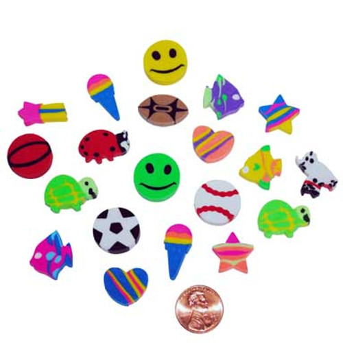 Mini Shaped Erasers