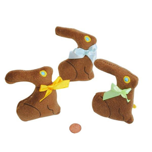 Plush Chocolate Bunnies