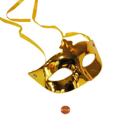 Plastic Mardi Gras Metallic Masks - Carnival Masks