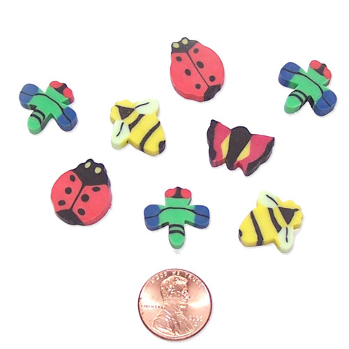 Mini Insect Shaped Erasers Wholesale