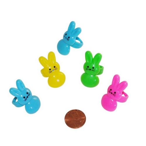 Plastic Bunny Rings