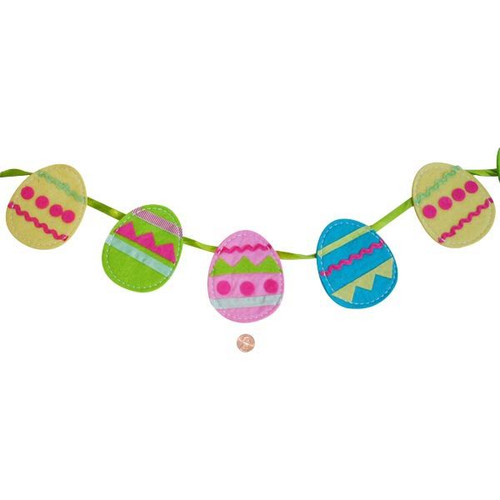 Felt Easter Egg Garland Decoration