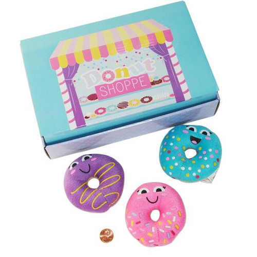 Donut Party Plush Stuffed Donuts with Box toy