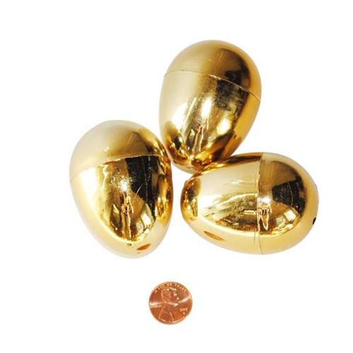 Metallic Golden Plastic Easter Eggs