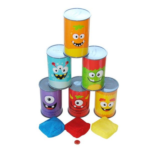 Plastic Monster Can Knock Down Game