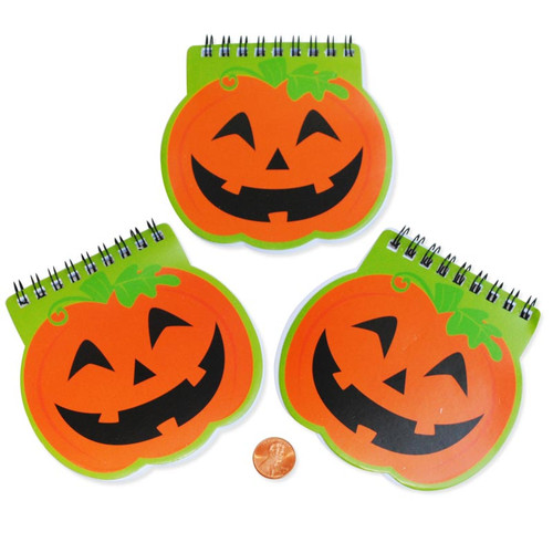 Mini Pumpkin Spiral Notepads