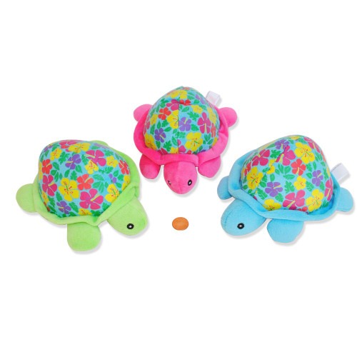 Toy Stuffed Animal Turtles with Colorful Flowers Luau