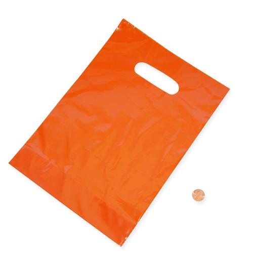 Orange Plastic Treat Bags