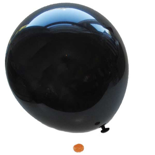 Black Latex Balloons 9 inches