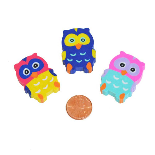 Owl Shaped Erasers Wholesale