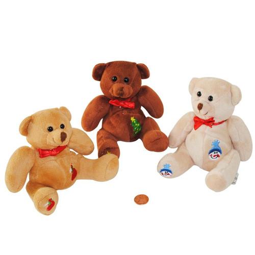 Stuffed Patch Work Holiday Bears