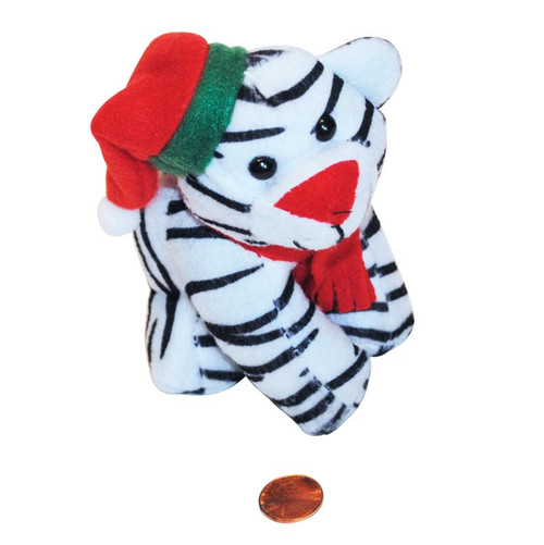 Stuffed Holiday White Tiger